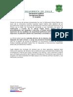 Declaración de Gendarmería por caso Lorenza Cayuhan