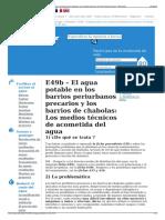 E49b – El Agua Potable en Los Barrios Periurbanos Precarios