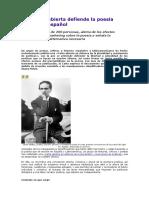 Una Carta Abierta Defiende La Poesía Escrita en Espanol