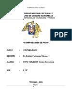 Universidad Nacional de Trujillo Comprobantes de Pago 2016