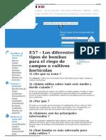 E57 - Los Diferentes Tipos de Bombas Para El Riego de Campos