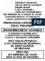 TRACT RASSEMBLEMENT FOUGÈRES BRETAGNE