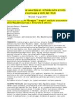 Audizione+Del+Dottor+Giuseppe+Travaglini%2C+Sostituto+Procuratore+Della+Repubblica+Presso+Il+Tribunale+Di+Velletri
