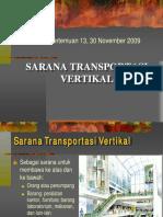 Kuliah 13 - Sarana Transportasi Vertikal