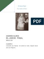 El Juicio Final Andrés de Olmos
