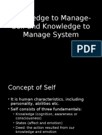 Knowledge to Manage-Self and Knowledge to Manage System