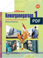 Pendidikan Kewarganegaraan 1 Kelas 7 Slamet Santosa 2009