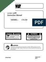 Chainsaw Manual CS 310
