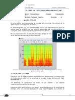 Código para el cálculo de un espectrograma a colores.