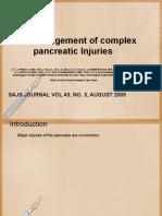 Trauma Pancreas Management