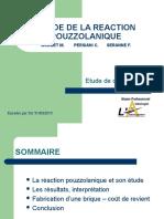 Etude de La Reaction Pouzzolanique-pr%e9sentation