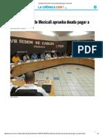 Ayuntamiento de Mexicali Aprueba Deuda Pagar a Issstecali