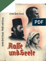Clauss, Ludwig - Rasse Und Seele (1938, 198 S., Scan, Fraktur)