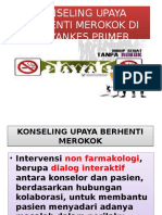 KONSELING UPAYA BERHENTI MEROKOK DI FASYANKES PRIMER.pptx