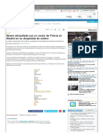 Muere Atropellado Por Un Coche de Policía en Madrid en Su Despedida de Soltero - La Nueva España - Diario Independiente de Asturias