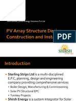 PV Array Structure Design, Construction and Installation