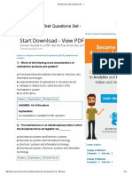 Mechatronics Test Questions Set - 1