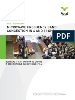 Microwave Frequency Band Congestion in 6 and 11 GHz