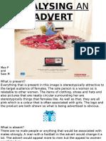 Analysing an Advert