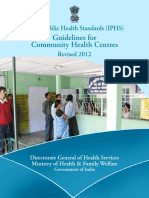 IPHG Guidelines 2012 Guidelines Community Health Centres