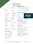 Algebra Cheatsheet