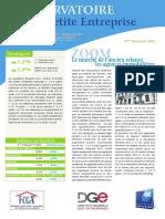 Observatoire de la petite entreprise n° 62 FCGA - Banque Populaire