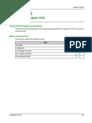 Lifo-fifo Register (%r)   Parameter (Computer Programming