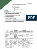 Programación de La Unidad Didáctica12