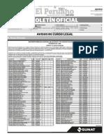 Diario Oficial El Peruano, Edición 9487. 18 de octubre de 2016