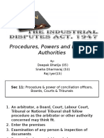 Procedures, Powers and Duties of Authorities- IDA,1947