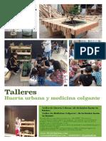 TALLER - Huerta Urbana y Medicina Colgante