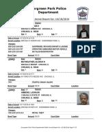 Evergreen Park Arrests Oct. 5 to Oct. 12, 2016