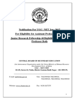 Notification for UGC- NET Jan.-2017