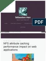 NFS Noac Performance Impact