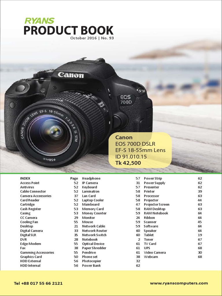 Ryans Product Book October 2016 Issue 93 Advanced Micro Devices Canon Eos 760d Kit Ef S 18 135mm F 35 56 Is Stm Wifi Android Operating System