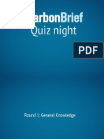 Carbon Brief Quiz Night 2016
