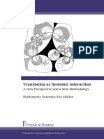 Translation as Systemic Interaction