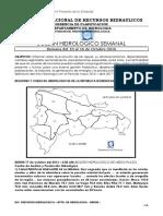 Boletín Hidrológico Semanal 17 de Octubre 2016