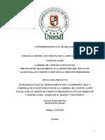 Estrategias Para El Mejoramiento de La Expresión Oral y Corporal De