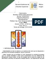 Practica 4 Calorimetría (Termodinámica)
