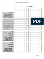 Mastery Test Tracking Sheet
