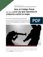 Analisis de La Nueva Ley de Violencia Fam