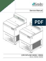 Heraeus Cryofuge 6000i,8500i - Service Manual (de)