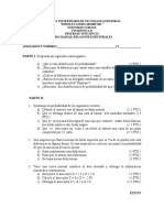 Prueba de Suficiencia Estadistica 2011