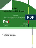 Topic 01-Basic Principles in Fluid Mechanics