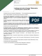 """Dal 21 ottobre il ciclo di lezioni """"Matematica e..."""" - Milanoonline.com, 18 ottobre 2016"""