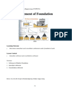 C5 Settlement of Foundation