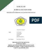 Tugas Makalah Mikrobiologi Peranan Dan Pemanfaatan Mikroorganisme