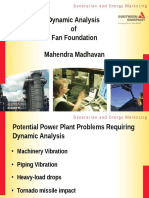 Dynamic Analysis of Fan Foundation