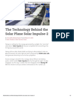 The Technology Behind the Solar Plane Solar Impulse-2